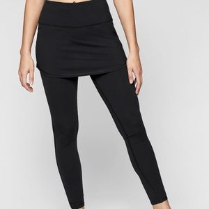 Athleta leggings and attached skirt.